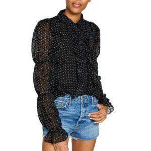 WALTER BAKER NWT BLK&Wht blouse sheer